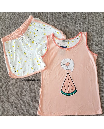 Pyjama Short Saumon - TRESS