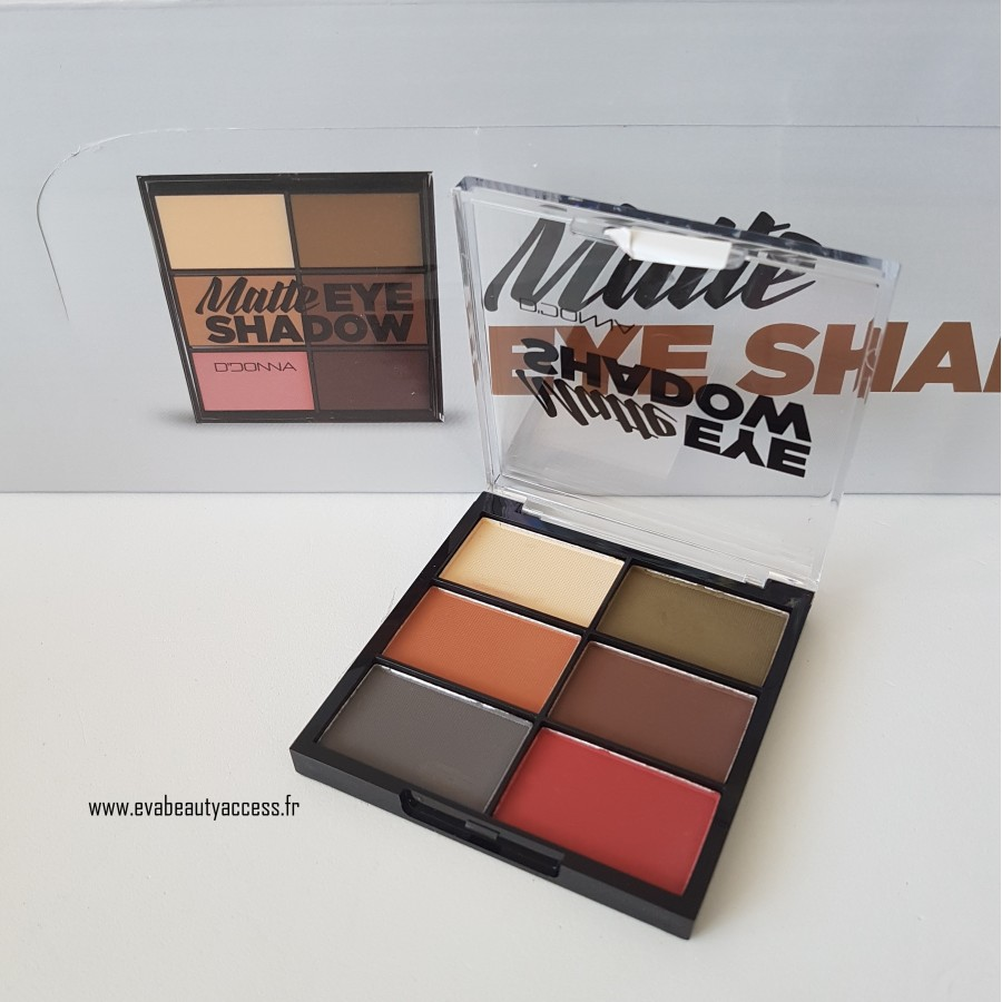 Matte Eye Shadow x6 Fards - N°2 - D'DONNA