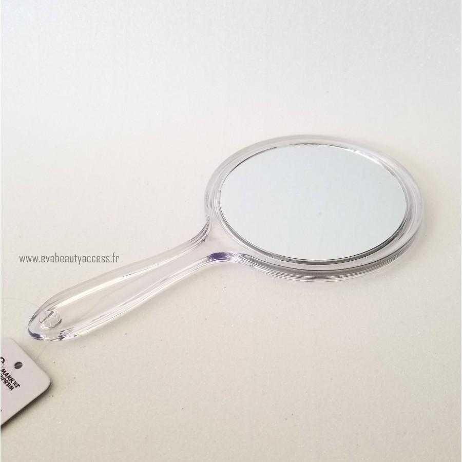 Miroir Double Face avec Manche - Transparent