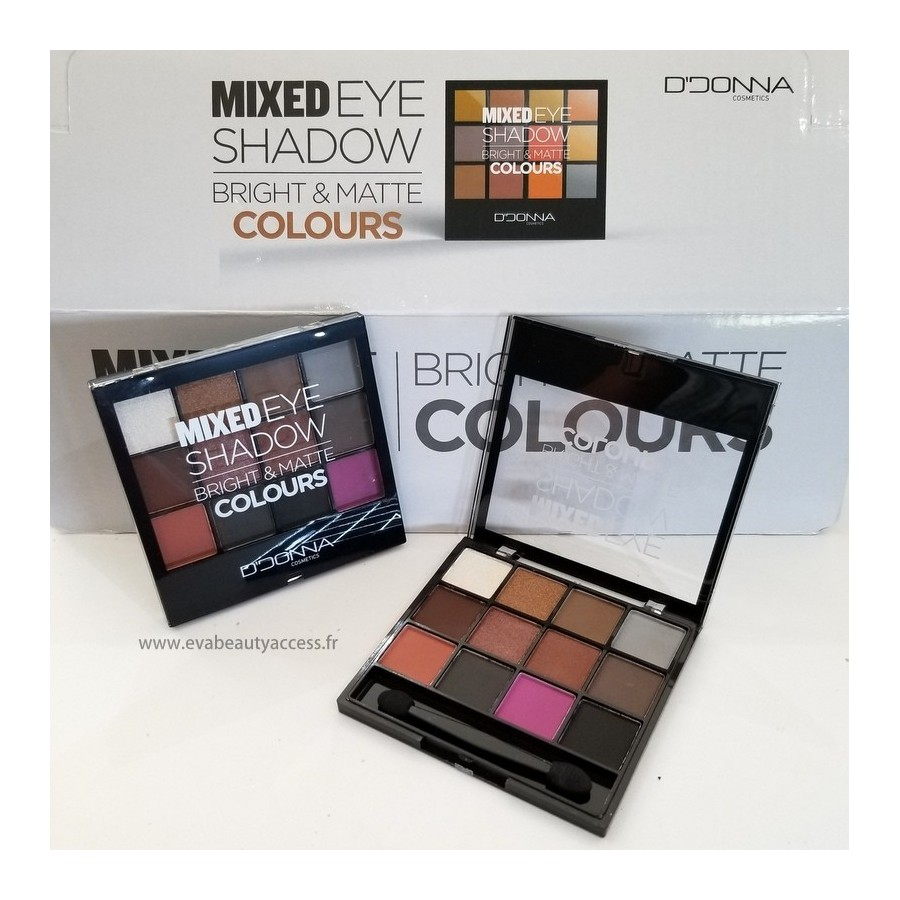 Mixed Eye Shadow Bright & Matte Coulours - N°3 - D'DONNA