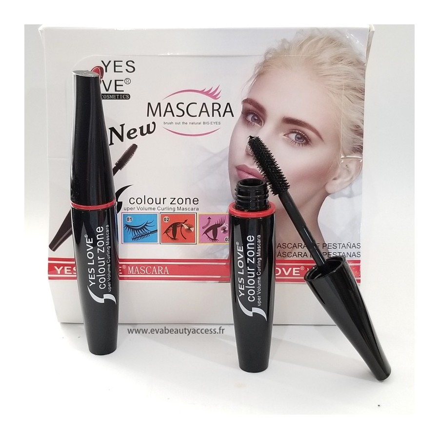 Mascara 'COLOUR ZONE' Super Volume Recourbant - YES LOVE