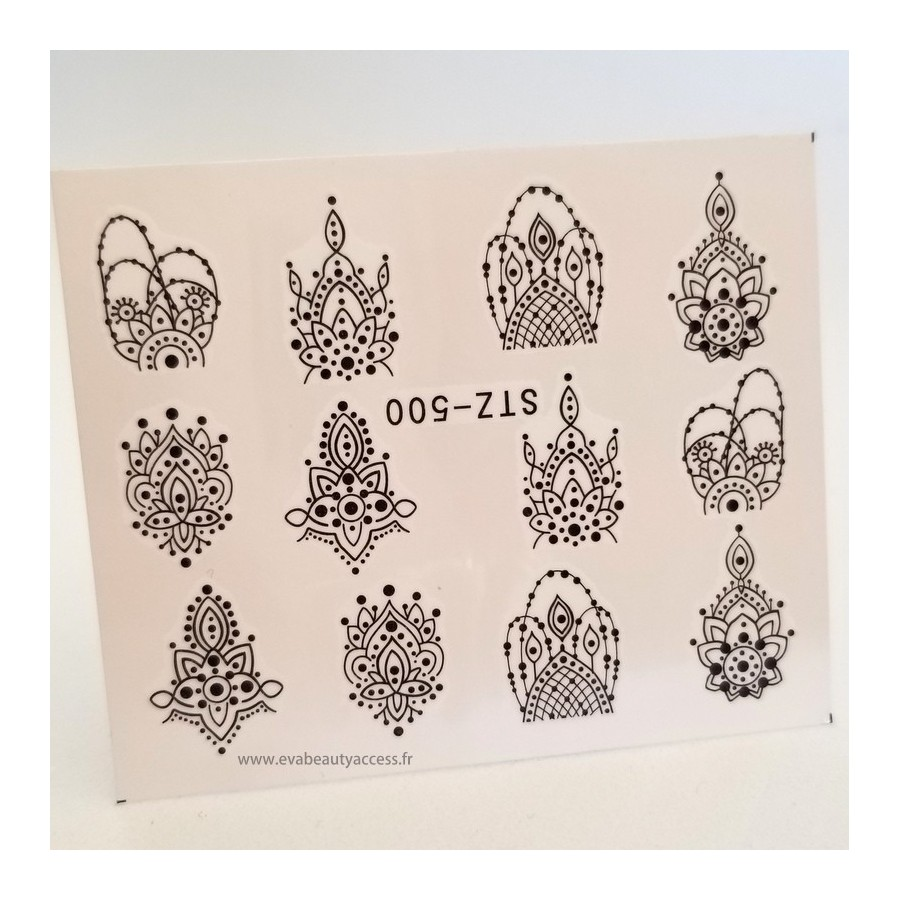 Une Planche 12 Water Decals - 'STYLE MANDALA' - 500