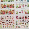Lot 18 Planches Waterdecal Gourmandises