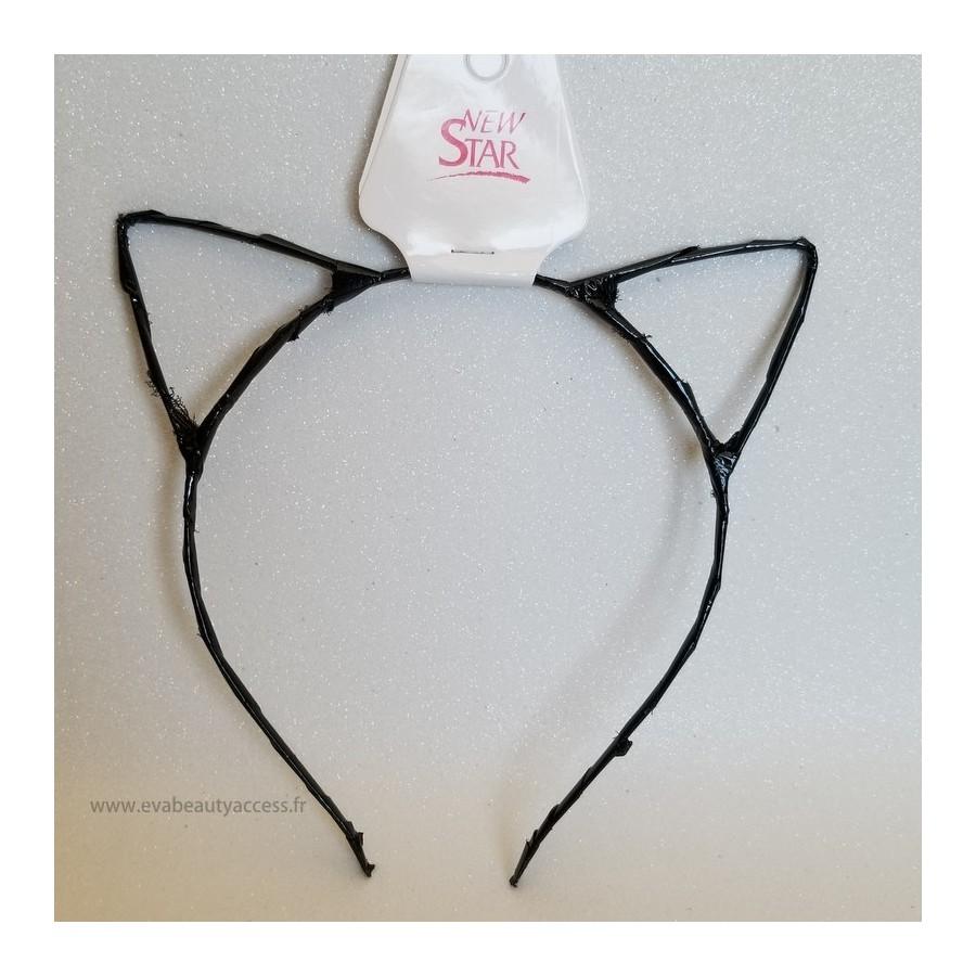 Serre-Tête Oreilles de Chats Brillant - NOIR - NEW STAR