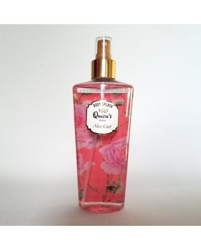 Brume Parfumée 'BODY SPLASH' - NICE GIRL - QUEEN'S BY PRADY