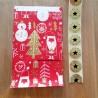Pochette Cadeaux avec Etiquette - 'HAPPY SANTA' Rouge