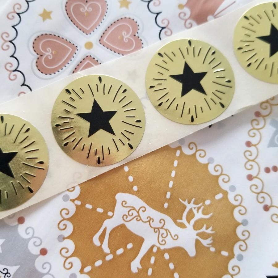 Pochette Cadeaux - 'HELVETE' avec Etiquette Etoile doré
