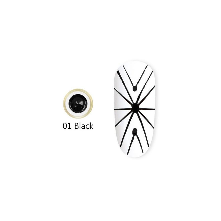 Spider Gel Soak-Off / UV / LED - 8ml - NOIR 01