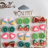 Lot 12 Paires Boucles d'Oreille 'Fimo Gourmandise' - ROSLYND