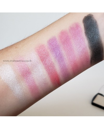 Palette 8 couleurs 'SPACE EYESHADOW' - Rose/Violet - D'DONNA