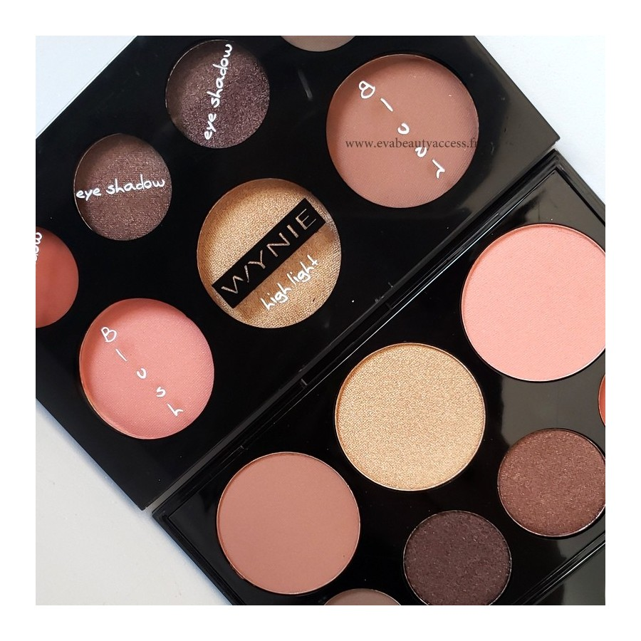 Grande Palette Complète : Fards + Blush + Highlight