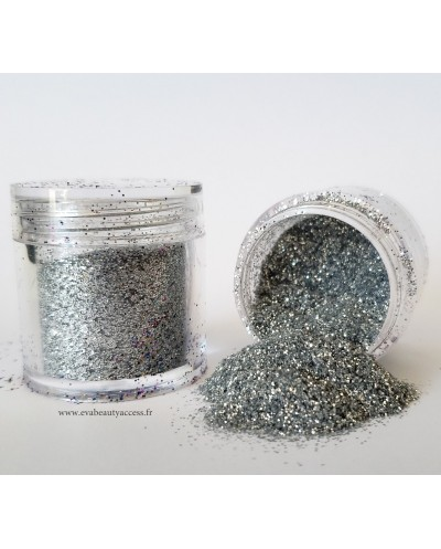Grand Pot Paillette Maquillage - Corps - Ongles - Argent