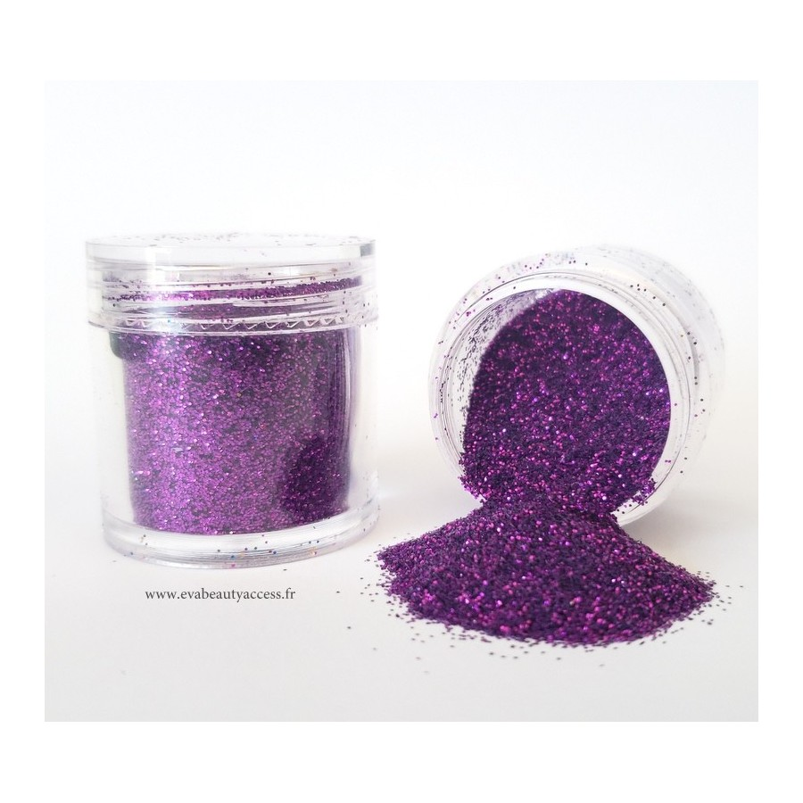 Grand Pot Paillette Maquillage - Corps - Ongles - Violet