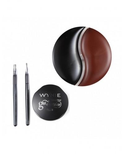 Gel Eye Liner 2 en 1 Noir/Marron - WYNIE
