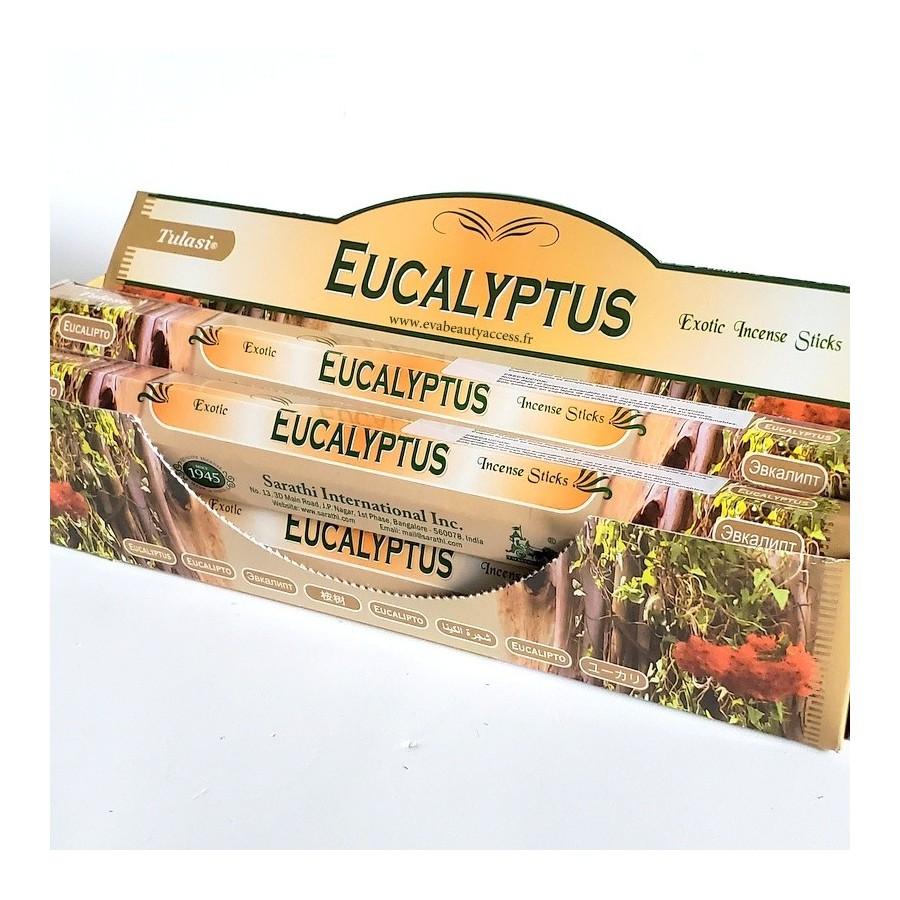 20 Battons d'Encens - EUCALYPTUS - TULASI - INDE