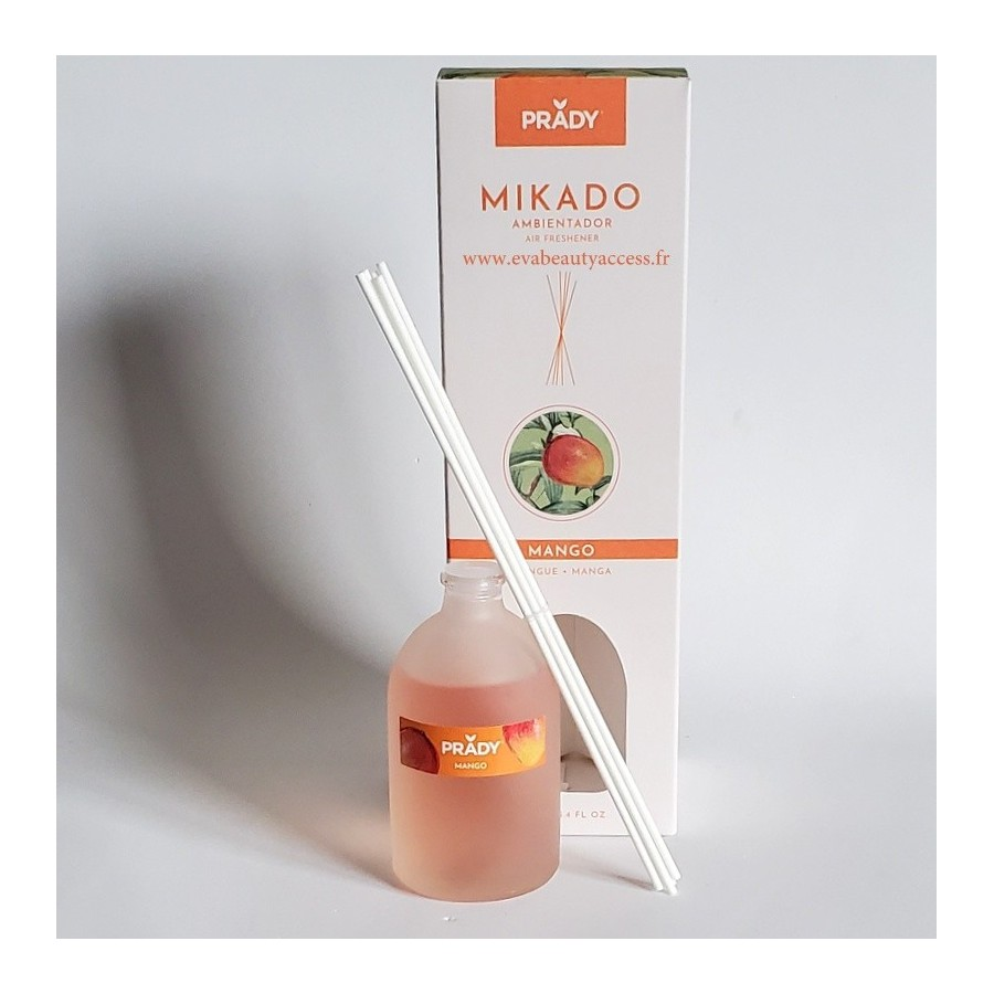 Mikado Diffuseur de Parfum d'Ambiance - MANGUE - 100ml - PRADY