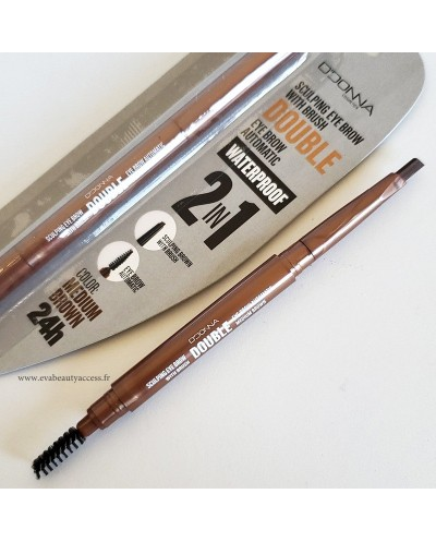 Crayon 2 en 1 Sourcils 'SCULPTING EYE BROW' avec Pinceau - LETICIA WELL