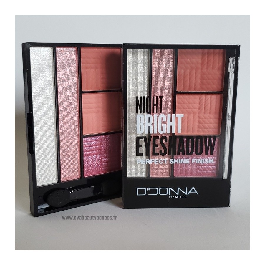 Palette 'NIGHT BRIGHT EYESHADOW PERFECT SHINE FINISH' - N1 - D'DONNA