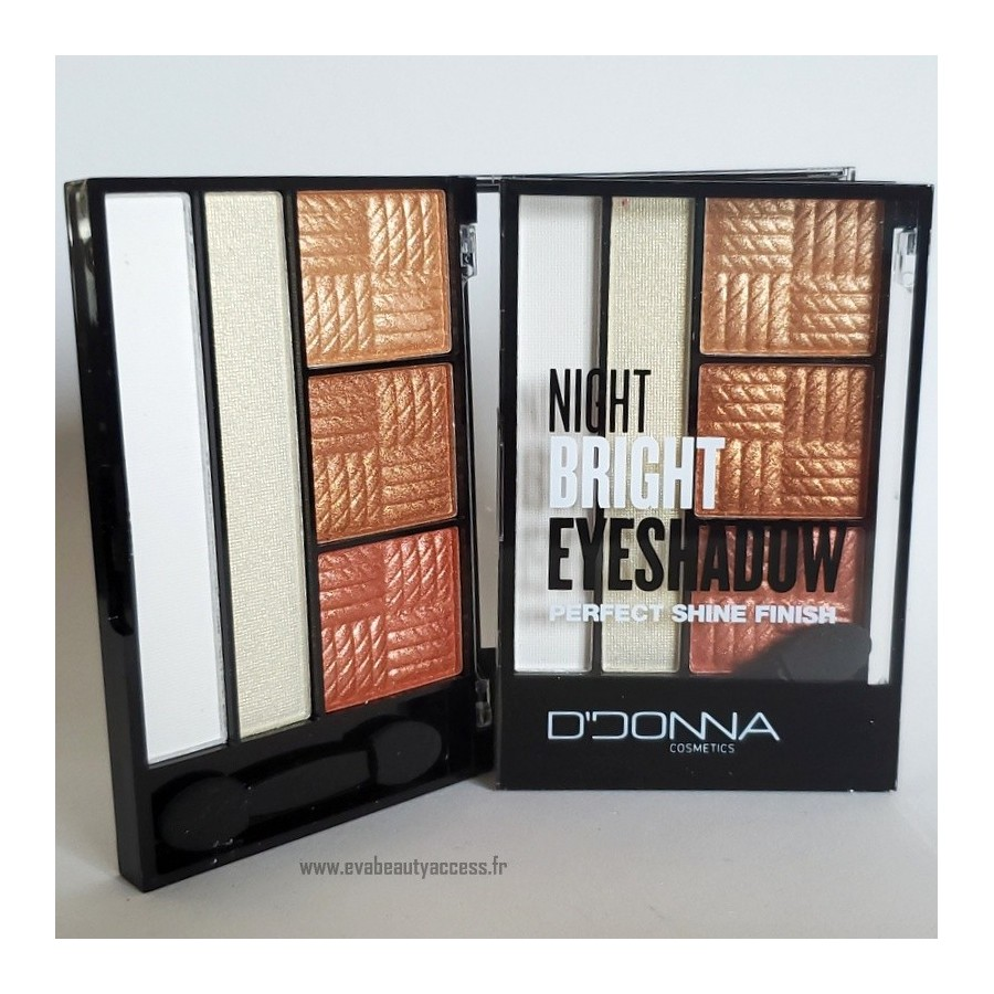Palette 'NIGHT BRIGHT EYESHADOW PERFECT SHINE FINISH' - N2 - D'DONNA