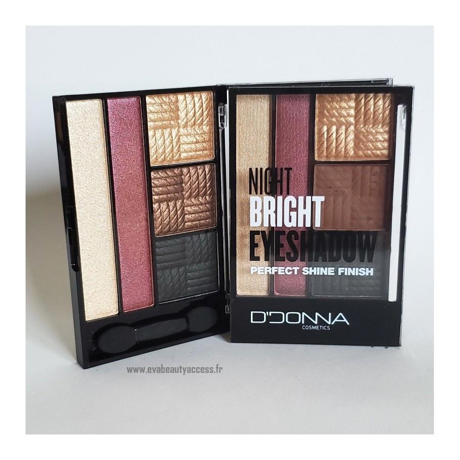 Palette 'NIGHT BRIGHT EYESHADOW PERFECT SHINE FINISH' - N3 - D'DONNA