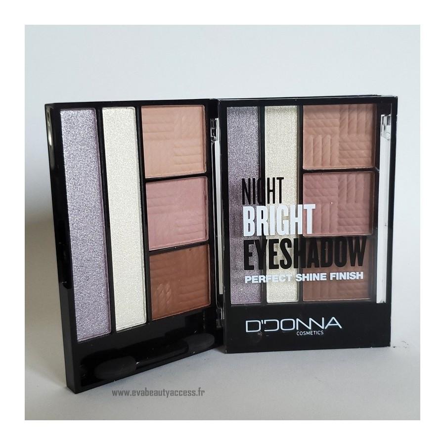 Palette 'NIGHT BRIGHT EYESHADOW PERFECT SHINE FINISH' - N4 - D'DONNA