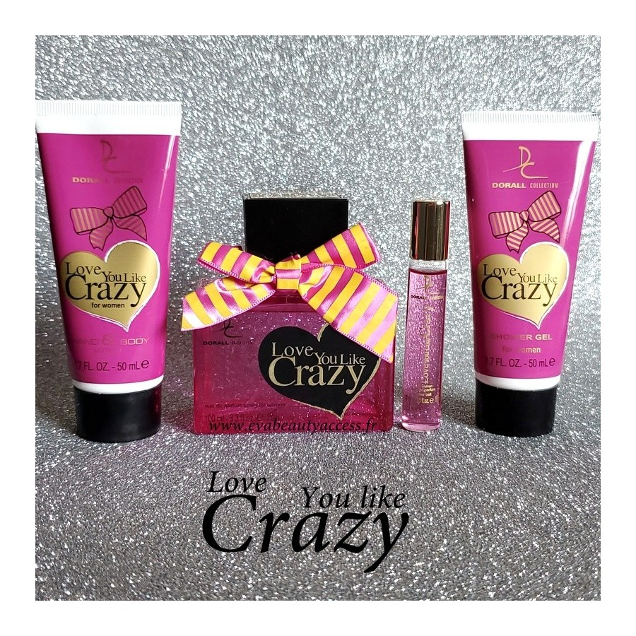 Coffret 'LOVE YOU LIKE CRAZY' Femme - DORALL COLLECTION