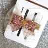 Barette Noeud Paillettes Petite Fille - Rose Pastel - COCO ACCESSOIRE