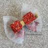Barette Noeud Paillettes Petite Fille - Rouge - COCO ACCESSOIRE