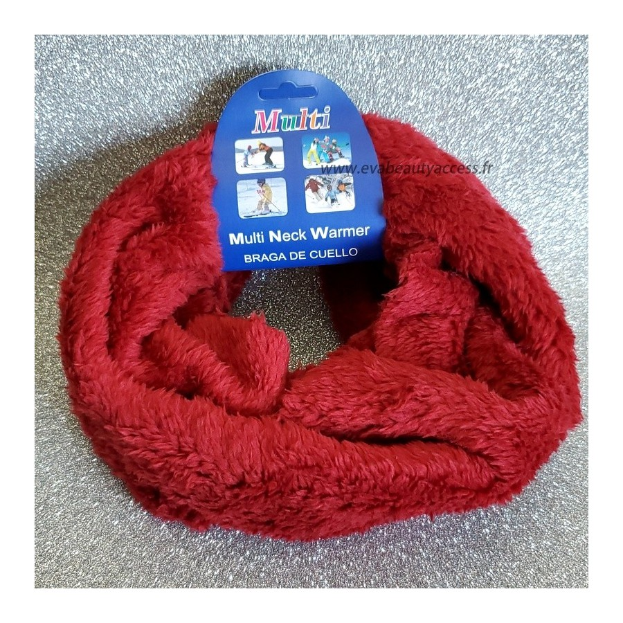 Snood/Echarpe Tour de Cou Simple - Rouge Bordeau