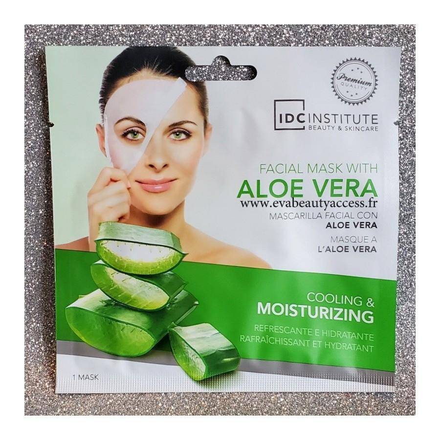 Masque en Tissu Visage à l'Aloé Vera - IDC INSTITUTE