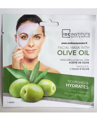 Masque Visage en Tissu à l'Huile d'Olive - IDC INSTITUTE