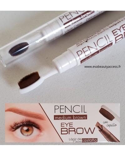 Crayon Sourcils 'PENCIL EYE BROW' - Medium Brown REF 33244 - LETICIA WELL