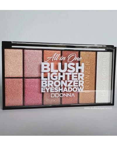 Grand Palette Tout en Un Blush/Highlighter/Bronzer/Fards à Paupière • Palette D'Donna • Eva Beauty Access