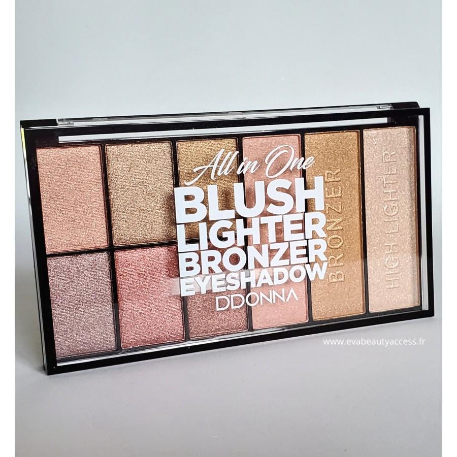 Grand Palette Tout en Un Blush/Highlighter/Bronzer/Fards à Paupière - REF 11135B - D'DONNA