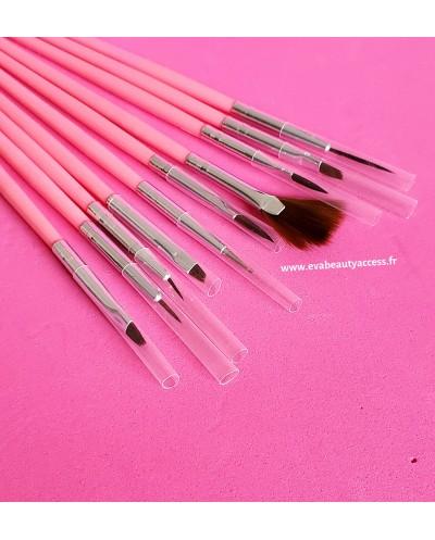 Lot de 7 Pinceaux Nail Art pour Gel UV/Vernis - WYNIE