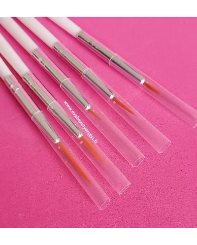 Lot 5 Pinceaux Nail Art Gel UV/Vernis - WYNIE