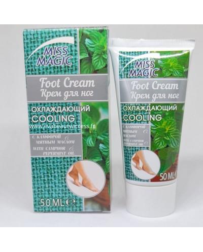 Crème Soin pour les Pieds Rafraîchissante - CAMPHRE et MENTHE - 50ml - MISS MAGIC