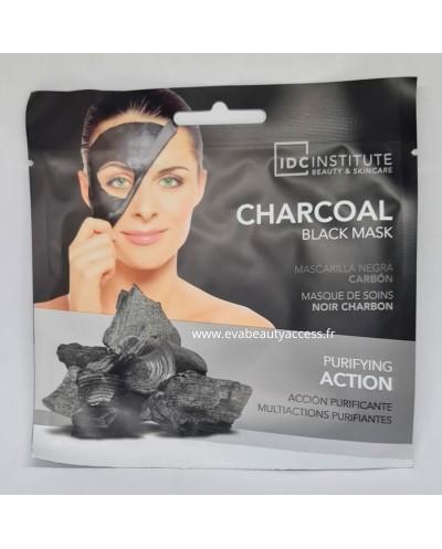 Masque Visage en Tissu 'CHARBON NOIR' - IDC INSTITUTE