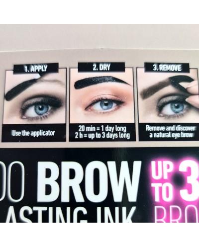 Tattoo Brown/Sourcils Longue Tenue - DARK BROWN - D'DONNA