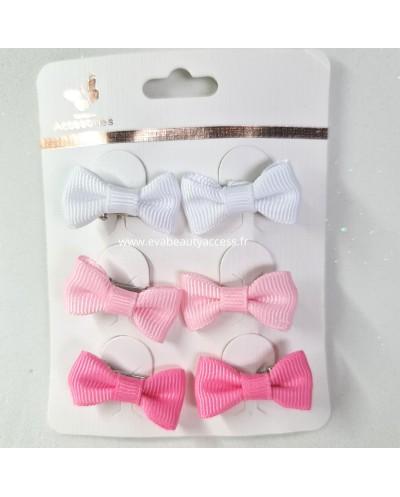 6 Mini Barette Pince Noeud Enfant - ACCESORIES