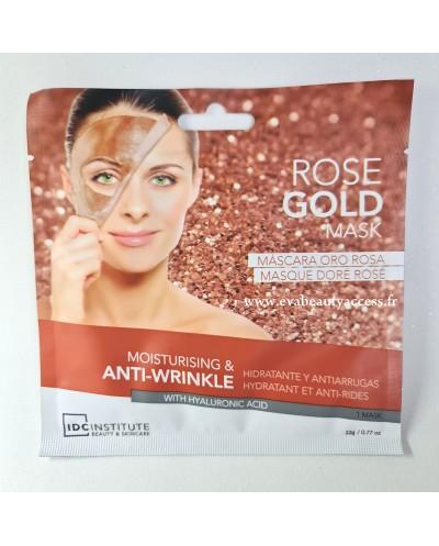 Masque Visage en Tissu 'ROSE GOLD' Hydratant et Anti-Âge - IDC INSTITUTE