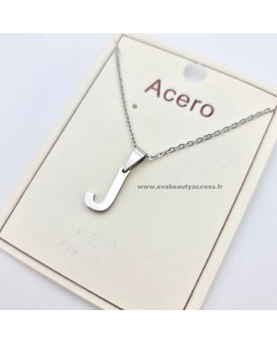 Collier - Lettre J - Argent - ACERO