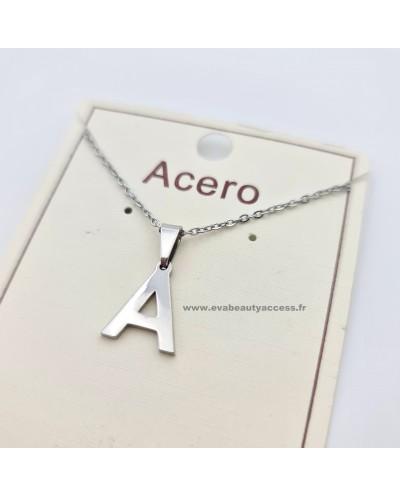 Collier - Lettre A - Argent - ACERO