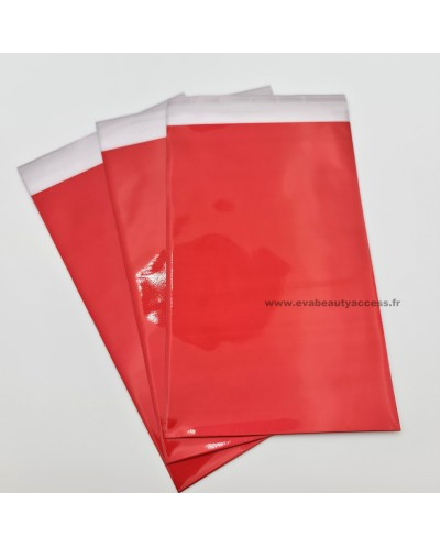 Pochette Cadeau Autocollante Brillant - Rouge