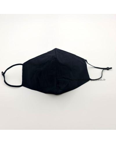 Masque en Tissu Lavable 'FASHION MASK' - Coton Noir