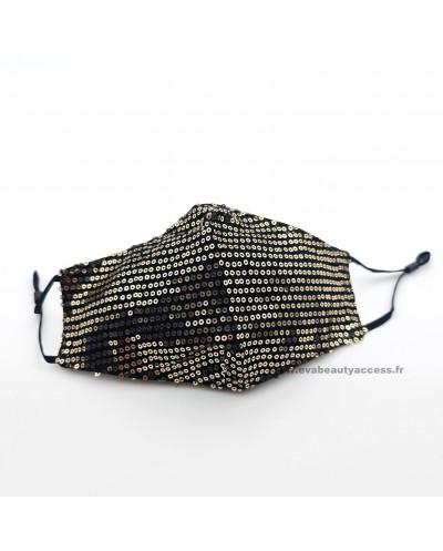 Masque en Tissu Lavable 'FASHION MASK' Réglable - Sequin Doré