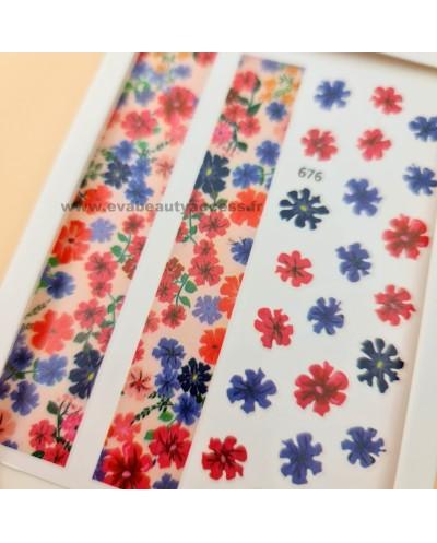 Grande Planche de Stickers Ongles - 676 - WYNIE