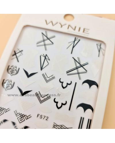 Grande Planche de Stickers Ongles - F572 - WYNIE