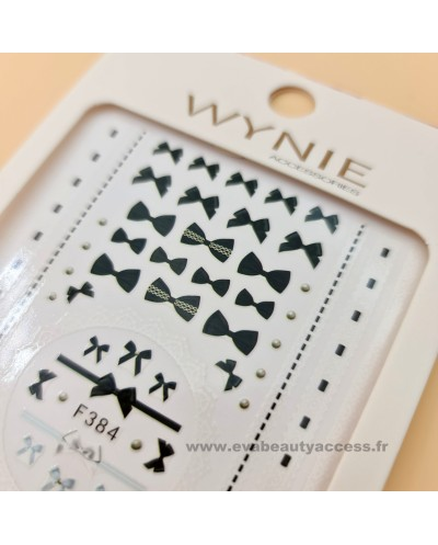 Grande Planche de Stickers Ongles - NOEUD - WYNIE