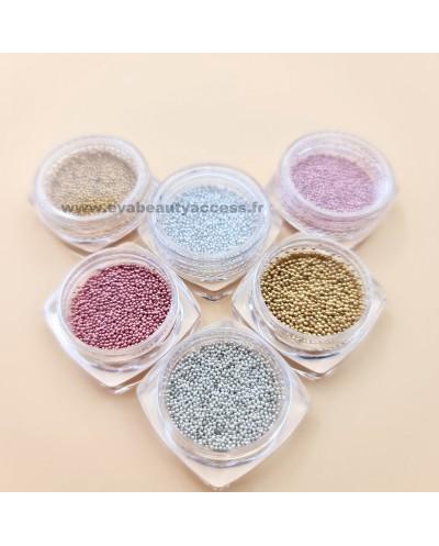 Boîte de 6 Décorations Ongle 'Microbilles Caviar' - WYNIE